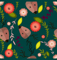cute cartoon seamless pattern with deer and vector image vector image