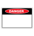 danger sign warning with empty space for text vector image