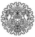 elephant hindu lord ganesha over ornate mandala vector image vector image
