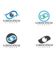 eye care logo and symbols template icons app vector image vector image