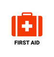 first aid icon symbol cross safety medic vector image vector image