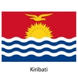 Flag of the country kiribati vector image