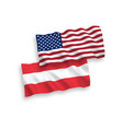 flags of austria and america on a white background vector image