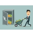 flat businessman with hand vector image