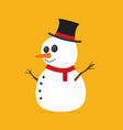 flat snowman vector image vector image