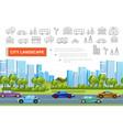 flat urban landscape concept vector image vector image