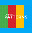 four different lighting seamless patterns vector image vector image