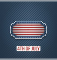 fourth of july national holiday banner vector image vector image