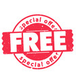 free special offer red circle frame image vector image