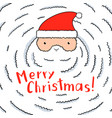 funny santa with a huge white beard vector image vector image