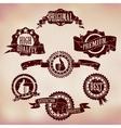 Grunge Scratched Badges vector image vector image