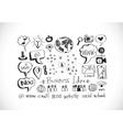 Hand doodle Business icon set idea design vector image vector image