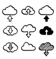 hand draw doodle cloud shapes collection icons vector image