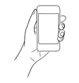 Hand Holding the Smart Phone vector image vector image