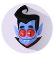 happy cartoon vampire head icon vector image vector image