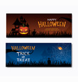 happy halloween party invitations banner vector image vector image