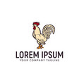 hen chicken logo hand drawn design concept vector image
