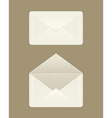 Image of a blank open and closed envelopes vector image vector image