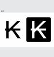 kip currency symbol vector image vector image
