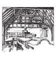 large schoolroom or grammar school vintage vector image vector image
