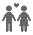 Love couple pictogram flat icon isolated on white vector image vector image