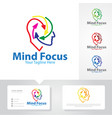 mind focus logo designs vector image