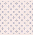 minimal geometric floral seamless pattern soft vector image vector image