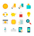 objects crypto currency vector image vector image