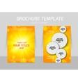 Orange flyer template design vector image vector image