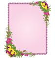 Ornate floral frame background vector image vector image
