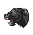 panther roaring head mascot logo vector image