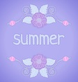 pastel colors with flowers vector image vector image