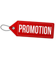 promotion label or price tag vector image vector image