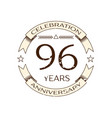realistic ninety six years anniversary celebration vector image vector image