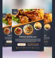 restaurant food flyer design vector image vector image