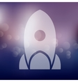rocket icon on blurred background vector image