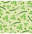 seamless background of parsley peas and onions vector image