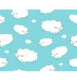 seamless pattern white sheep and cloud vector image