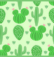 seamless pattern with cactus in scandinavian style vector image vector image