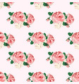 seamless pattern with roses for design vector image vector image