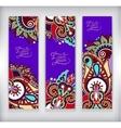 set decorative violet colour flower template vector image