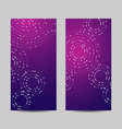set of vertical banners geometric pattern with vector image