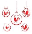 set red christmas balls vector image vector image