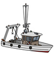 Small fishing boat vector image vector image