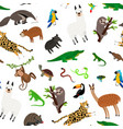 south america animals pattern vector image vector image