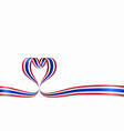 thai flag heart-shaped ribbon vector image