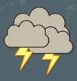 Thunder Clouds vector image vector image