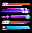 tv news banners on a black background vector image vector image