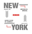 typography design new york vector image vector image