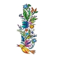 ukrainian ethnic floral ornament vector image